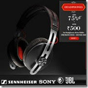 Snapdeal: Buy Headphones upto 60% off + Rs. 500 off on Rs. 4000