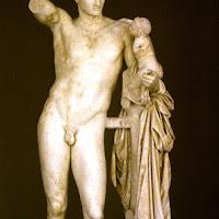 51.- Praxíteles. Hermes con el niño Dionisios
