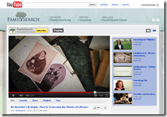 FamilySearch YouTube channel