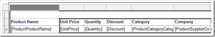 Minimizing the 'OrderID' column.