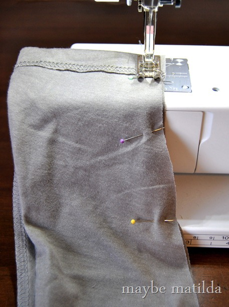 Sewing long sleeve