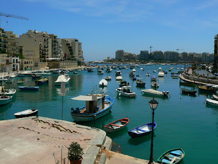 Maltese sights: St. Julien's Lagoon in Malta