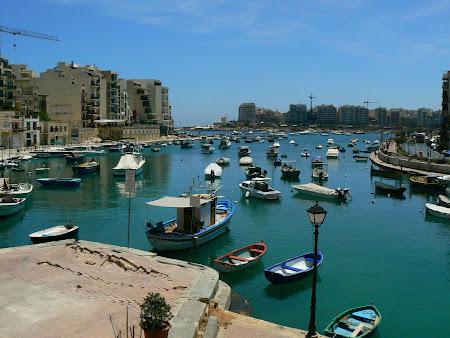 Maltese sights: St. Julien's Lagoon in Malta