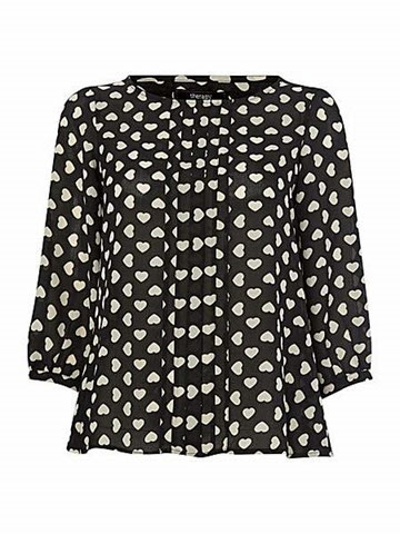 Therapy Heart Print Blouse