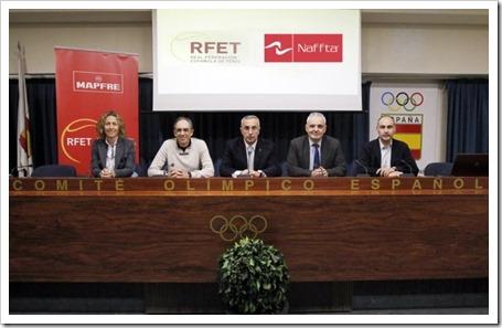 Apuesta de la Real Federación Española de Tenis por Naffta, una empresa nacional