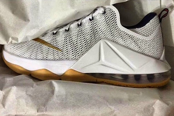 Upcoming White and Gold Gum Outsole Nike LeBron 12 Low