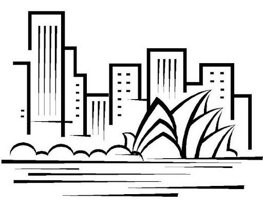 Dibujos para colorear de edificios  Imagui