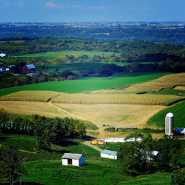 Mississippi River Valley by Peggy Driscoll - Landscapes Prairies, Meadows & Fields