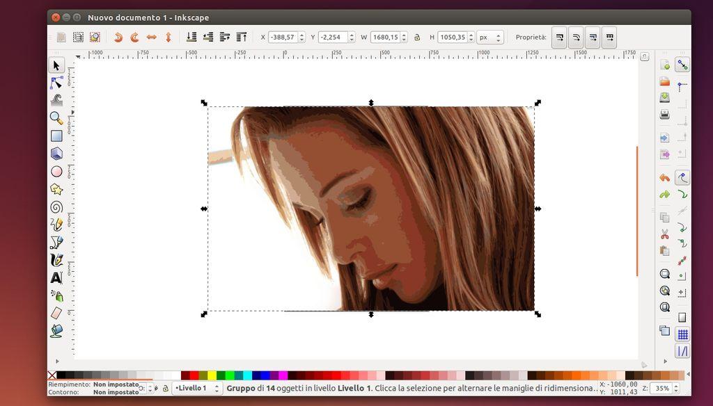 Inkscape - elaborazione immagine svg