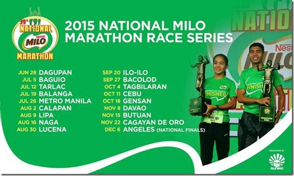 2015 Nationa Milo Marathon Race Series