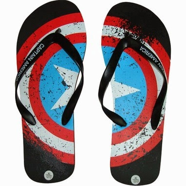 Captain America Sandals from Stylin Online