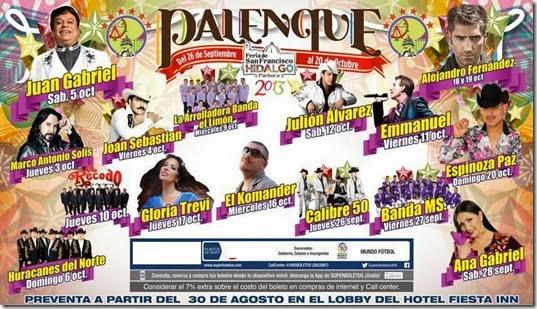 cartelera palenque pachuca 2013 venta de boletos en linea y taquillas