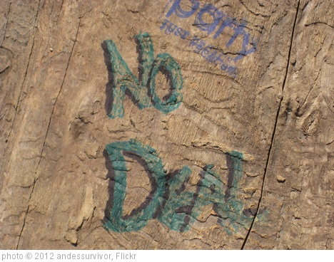 'No deal' photo (c) 2012, andessurvivor - license: http://creativecommons.org/licenses/by/2.0/