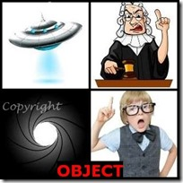 OBJECT- 4 Pics 1 Word Answers 3 Letters