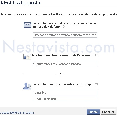 identificar tu cuenta de facebook