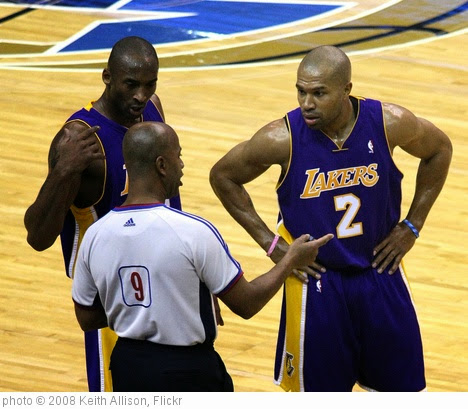 'Kobe Bryant and Derek Fisher' photo (c) 2008, Keith Allison - license: https://creativecommons.org/licenses/by-sa/2.0/