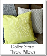 dollar store throw pillows