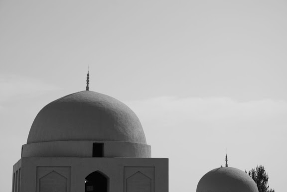 Turfan - Minaret Emin détail tombeau toit