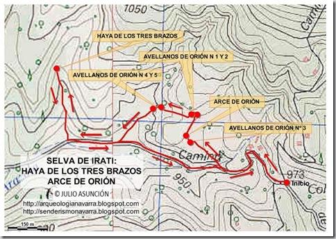 Mapa ruta Haya de los tres brazos