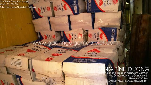 Ngói mũi hài nhỏ Gốm Đất Việt trong kho