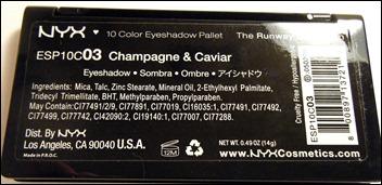 NYX Champagne & Caviar