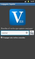 Screenshot of Spanish Conjugator