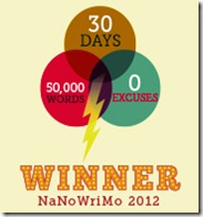 NaNoWriMo 2012 Winner Badge