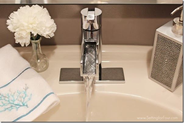 Powder Room Pfister Vega faucet from Setting for Four