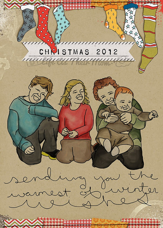 christmas card - life as their mom