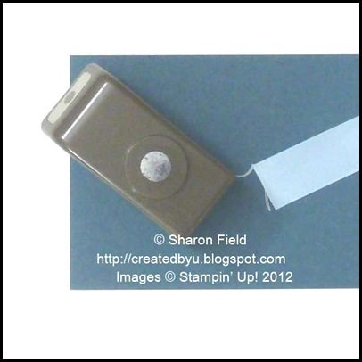 hole punch, card stock and ribbon