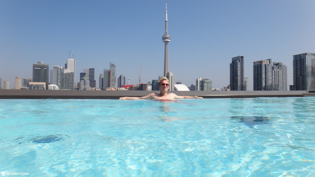 thompson rooftop pool view of toronto in Toronto, Ontario, Canada