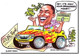 cartoon obama spending