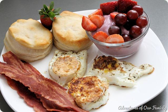 valentine's date breakfast plate