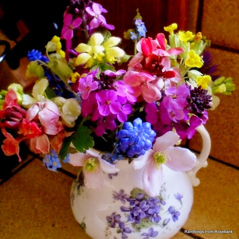 late april flower posy