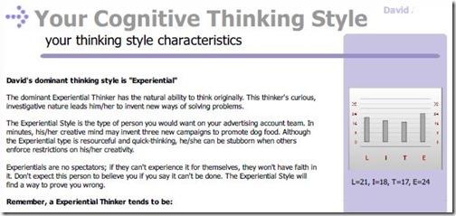 cognitive chart