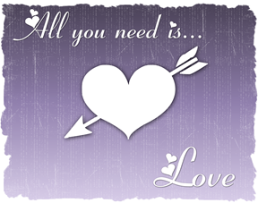 all you need is love red purple 2
