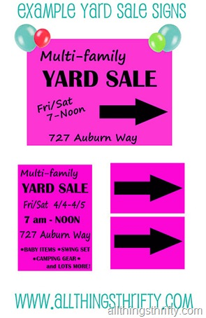 yard sale sign tips