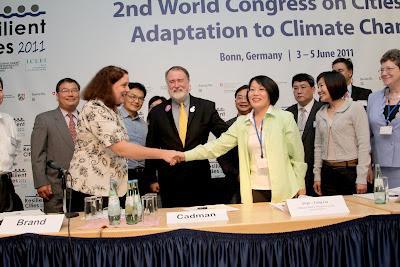 高雄市與ICLEI簽訂LAB,成為全球第51個簽署的城市。照片提供:ICLEI官方網站'