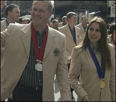 Casal de atiradores Russel e Lauryn Mark não poderá dividir quarto na Vila Olímpica de Londres 2012. (Getty Images)