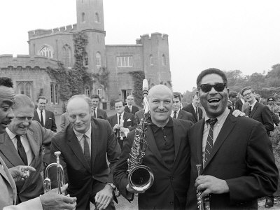Dizzy Gillespie Jazz Man July 1963 at Fort Belvedere Near Ascot 6 Buck Clayton and Bud Freeman.jpg