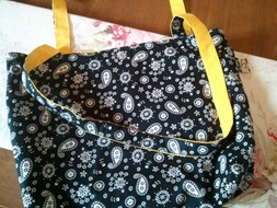 Reversible Bag - Black & Yellow