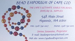 Earrings 8.23.11 Bead Emporium business card