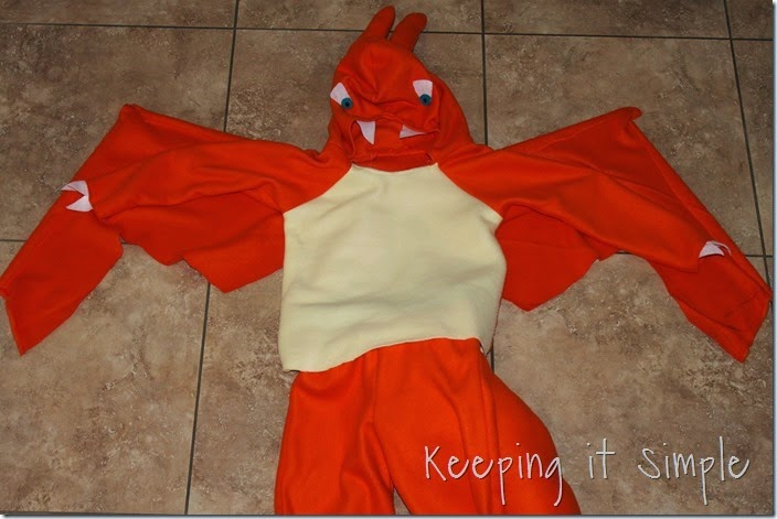 DIY Pokemon Charizard Costume (1)