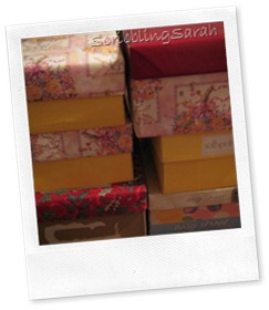 Shoeboxes ready