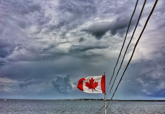 View from a lobster boat in Shediac