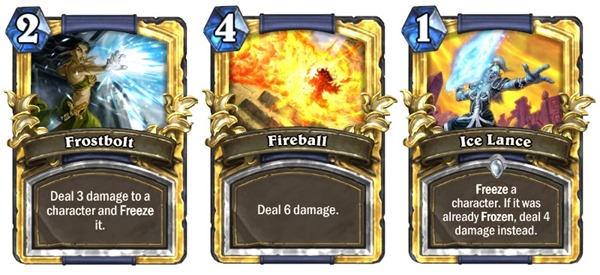Hearthstone Mage Burst Damage Cards