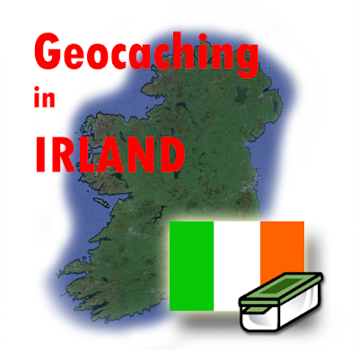 Geocaching in Irland Illustration