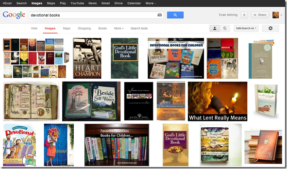 "Google search for ""devotional books"""