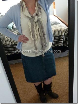 no sew ruffle scarf 16