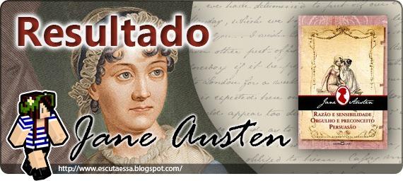Resultado sorteio - Jane Austen